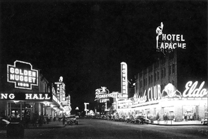 Fremont St, Las Vegas 1948. Photo: Manis Collection, University of Nevada-Las Vegas Library.