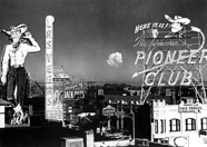Mushroom clouds over Vegas, 1950s. (PhotoL Las Vegas News Bureau)