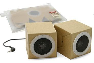 Muji cardboard speakers
