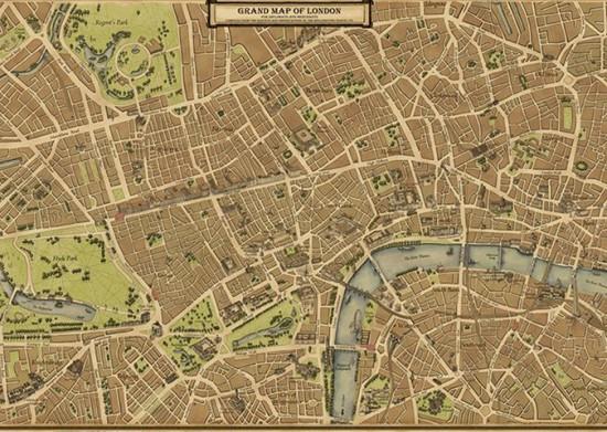 Map of London, Wellingtons Travel