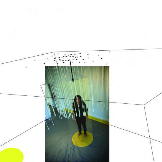 2. Space of Sound, Sound of Space is an installation by Nick Liadis that investigates the spatial nuances of music using parabolic shields that focus the sound in very clear directions. The project opens access to invisibility in architecture.