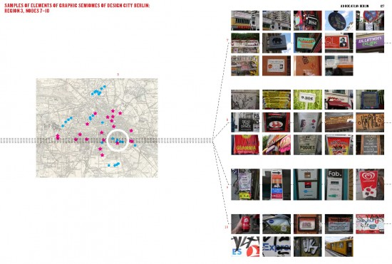 """Berlin Graphic Semiosphere: Design Cities Excursions: Node Sample Data, 05/08/2012"", Ad Hoc Atlas Berlin, 2013."