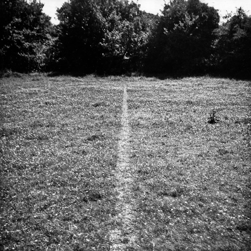 """A Line Made by Walking"" Richard Long, 1967."